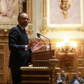 Le Premier ministre français Edouard Philippe devant le Sénat le 6 décembre. [Jacques Demarthon - AFP]