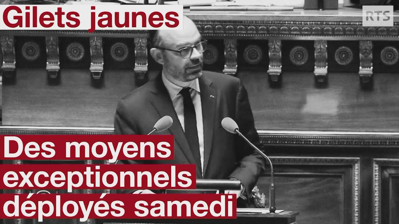 """Des """"moyens exceptionnels"""" mobilisés face aux """"gilets jaunes"""" ce samedi [RTS]"""