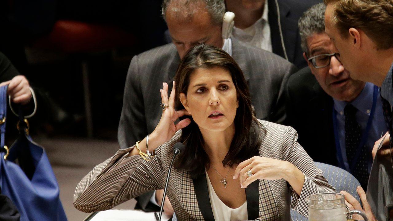 L'ambassadrice des Etats-Unis à l'ONU, Nikki Haley. [SETH WENIG - AP]