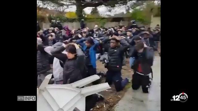Gilets jaunes, tollé en France suite à une manifestation de lycéens violemment réprimée [RTS]