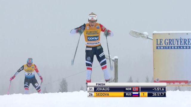 Bietoslolen (NOR), 15km dames: victoire de Therese Johaug (NOR), Von Siebenthal (SUI) termine  25e [RTS]