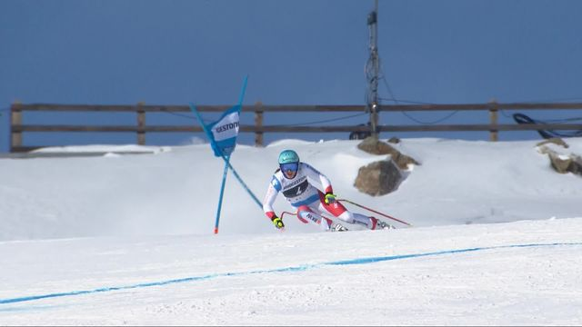 St-Moritz (SUI), Super G dames: Wendy Holdener (SUI) [RTS]