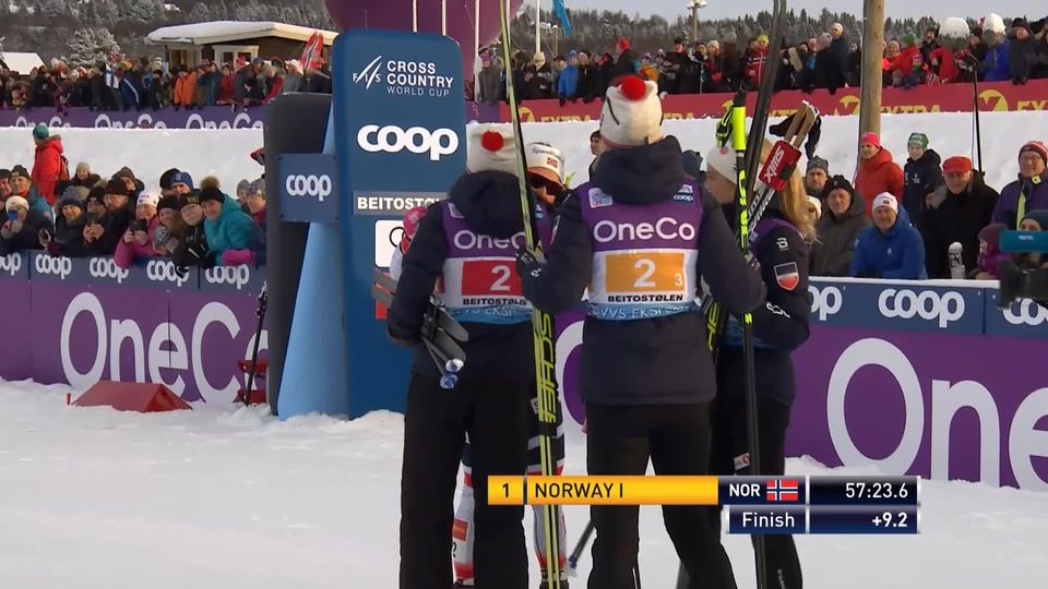 Bietoslolen (NOR), relais dames: les Norvégiennes s'imposent devant les Russes 2e et les Finlandaises 3e [RTS]