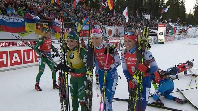Pokljuka (SLO), poursuite dames: victoire de Makarainen (FIN) devant Wierer (ITA) 2e et Fialkova (SVK) 3e [RTS]
