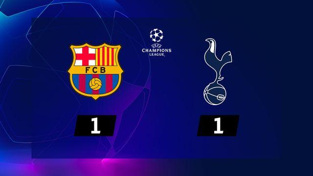 6e journée, Barcelone - Tottenham (1-1): le résumé de la rencontre
