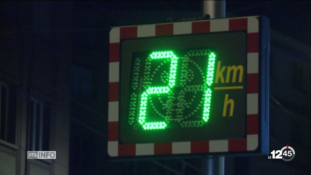 À Lausanne, un collectif veut généraliser les zones à 30km-h la nuit. [RTS]