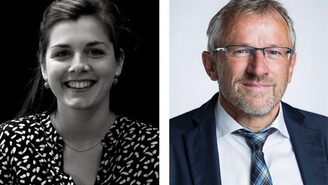 Sophie Buchs et Benjamin Roduit. [-/Alessandro della Valle - geneve.cvp.ch/Keystone]