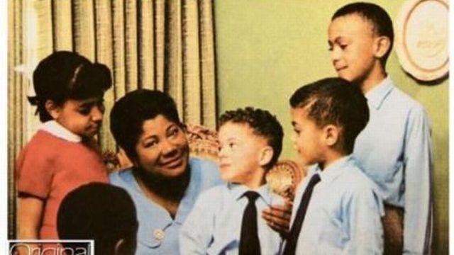 Couverture de l'album de Mahalia jackson Sweet Little Jesus Boy.