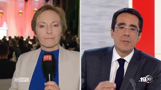 """Flore Dussey: """"Le Valais a de bonnes raisons de se réjouir de sa nouvelle conseillère fédérale. Sa popularité est palpable."""" [RTS]"""