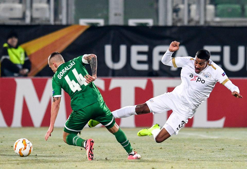 Fabio Dixon et Zurich ont marqué un 10e point dans le groupe A. [Vassil Donev - Keystone]