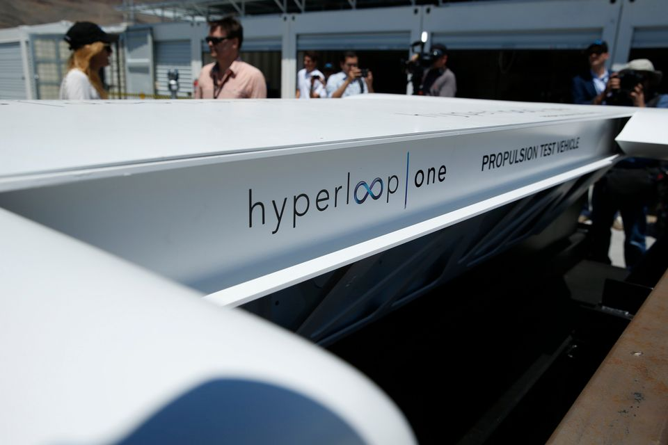 Ici l'hyperloop testé au nord de Las Vegas aux Etats-Unis. [John Locher - AP/Keystone]