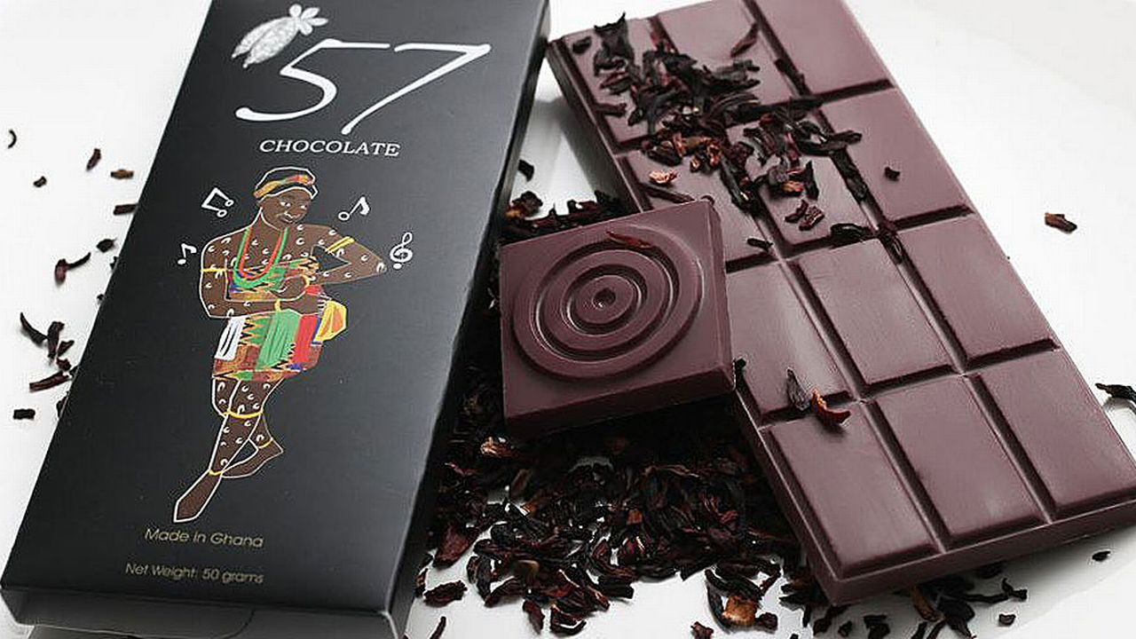 "Kimberly Addison et sa soeur, chocolatières, ont fondé ""57"". [www.57chocolategh.com]"