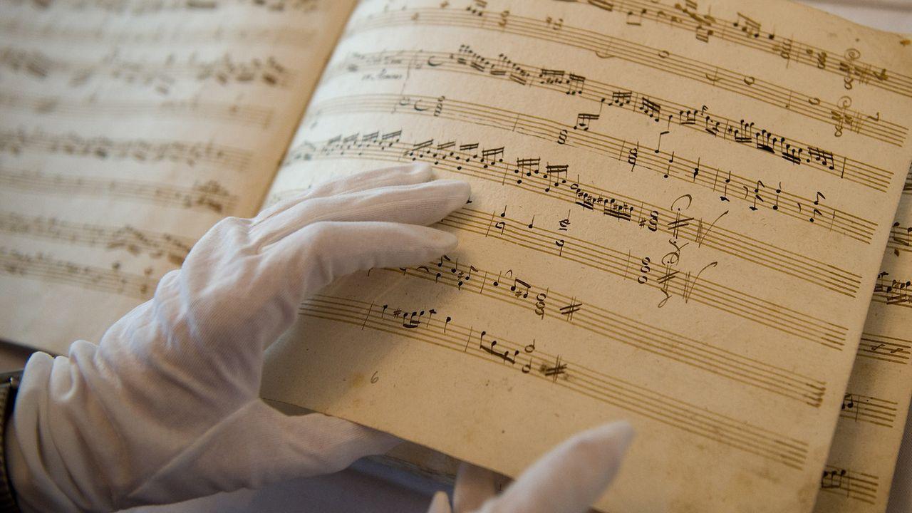 Une partition de Wolfgang Amadeus Mozart. [KERSTIN JOENSSON - AP]