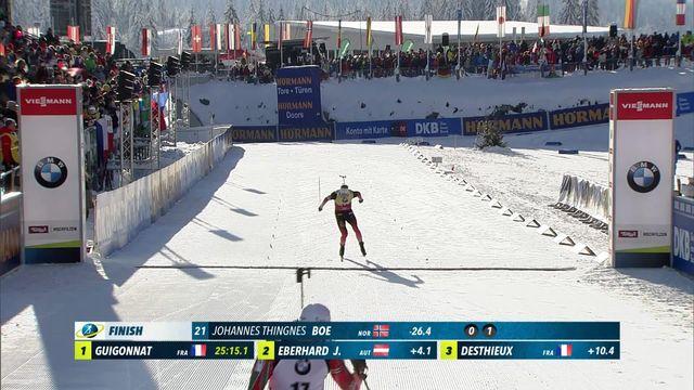 Hochfilzen (AUT), sprint messieurs: Johannes Thingnes Boe (NOR) s'impose devant Fourcade (FRA) et Doll (GER) [RTS]