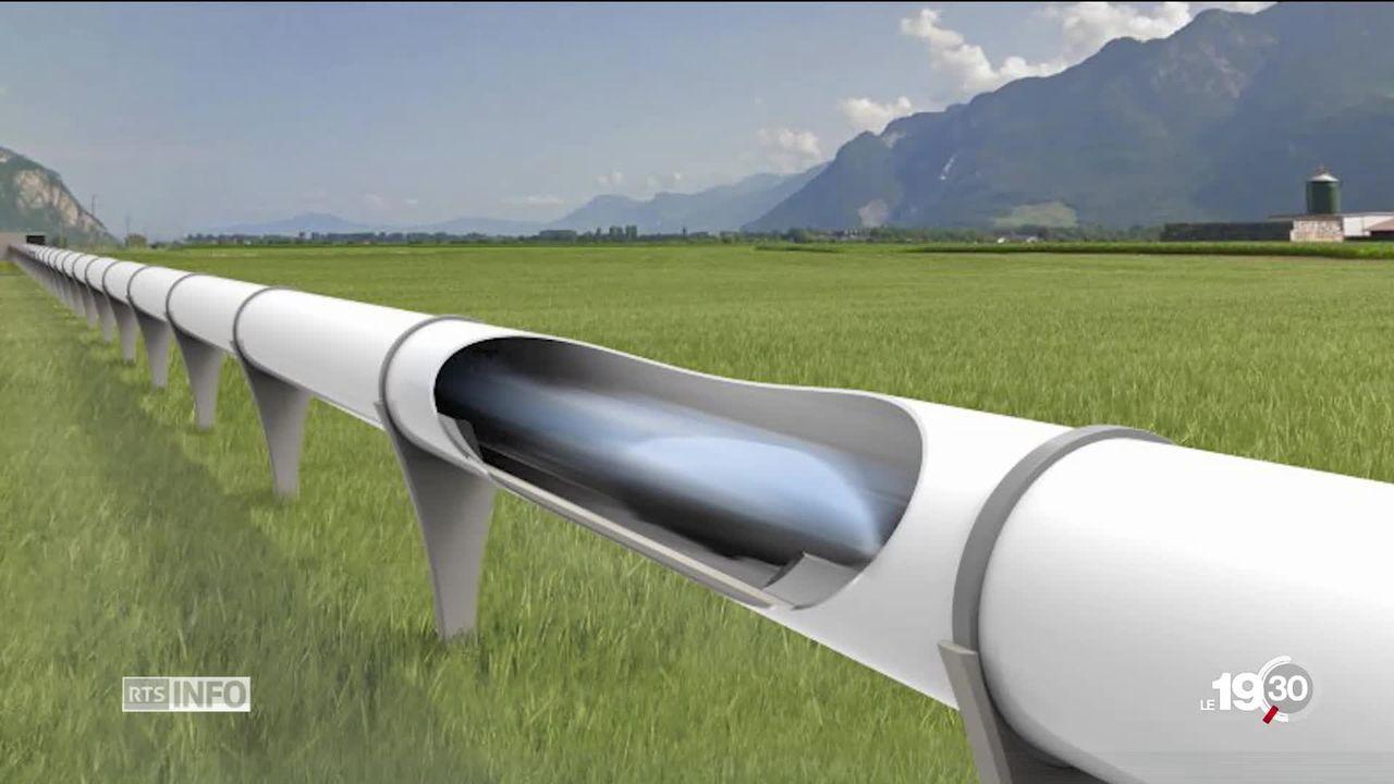 Voyage dans des capsules à 900 kilomètres à l'heure, le projet se concrétise en Valais. [RTS]