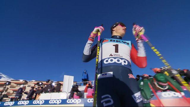 Davos (SUI), final du sprint messieurs: victoire de Klaebo (NOR) devant Pellegrino (ITA) 2e et Gros (FRA) 3e [RTS]