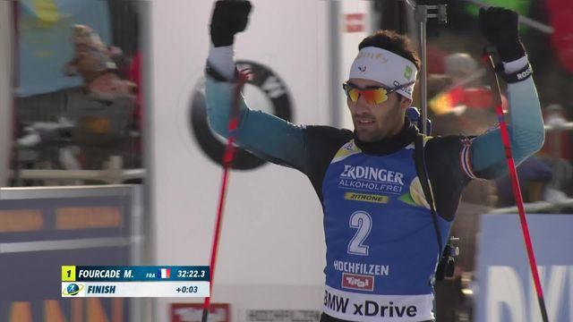 Hochfilzen (AUT), biathlon messieurs: Martin Fourcade (FRA) s'impose en moins de 33 minutes [RTS]