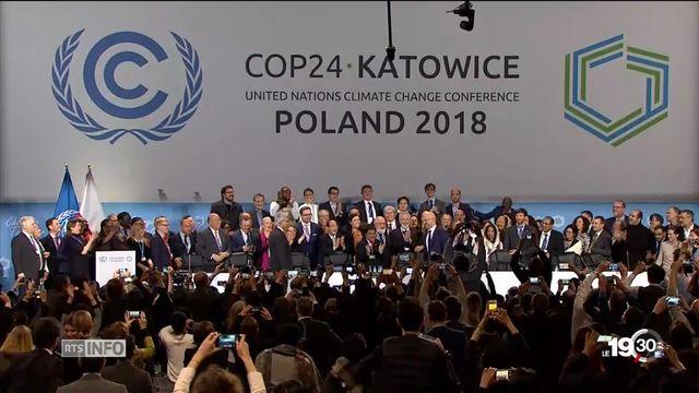 La COP 24 s'achève sur un compromis qui permet d'appliquer l'Accord de Paris sur le climat. [RTS]