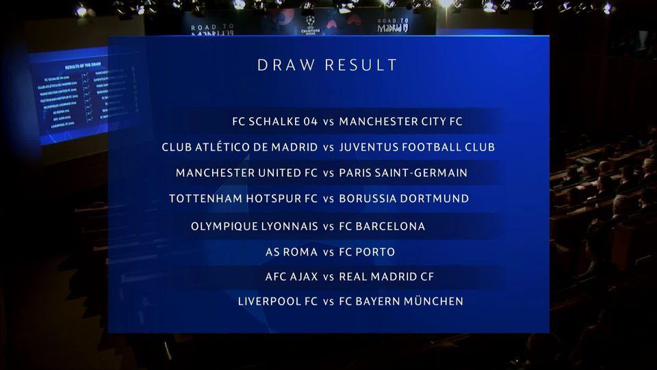 Tirage au sort: le Liverpool de Shaqiri contre le Bayern, le choc des 1-8èmes de finale [RTS]