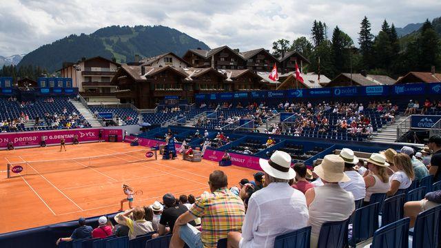 Gstaad, le tournoi ne suscitait qu'un intérêt poli. [Peter Klaunzer - Keystone]