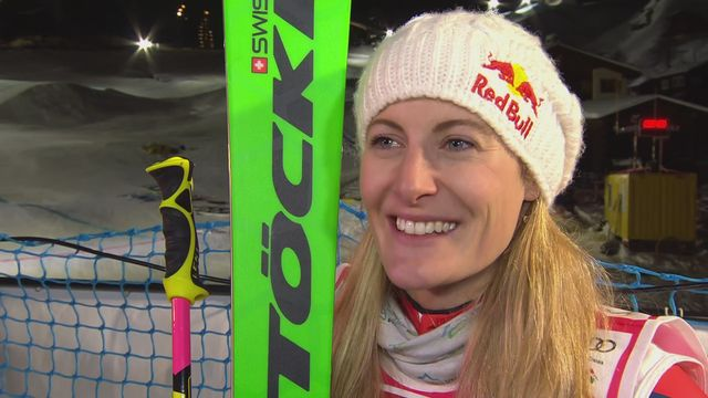 Arosa (SUI), finale dames: interview de Fanny Smith (SUI) [RTS]