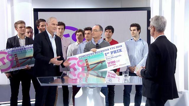 Le gagnant est Yves Mengarda dans la catégorie individuelle suivit de l'interview de Marc Büki, CEO de Swissquote [RTS]
