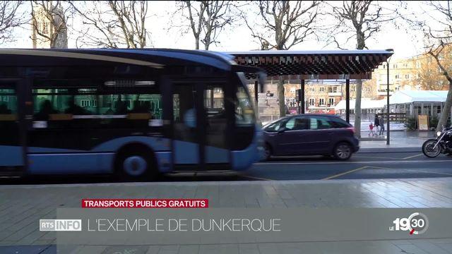 La gratuité des transports publics: une piste testée à Dunkerque en France. [RTS]