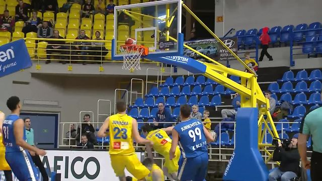 Basketball, Champions League, Opava - Fribourg Olympic (76-77): les meilleurs moments du match [RTS]