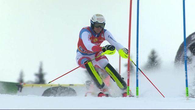 Saalbach (AUT), Slalom Messieurs, 1ère manche : Ramon Zenhausern (SUI) [RTS]
