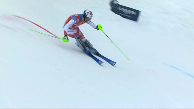 Saalbach (AUT), Slalom Messieurs, 1ère manche : Luca Aerni (SUI) [RTS]