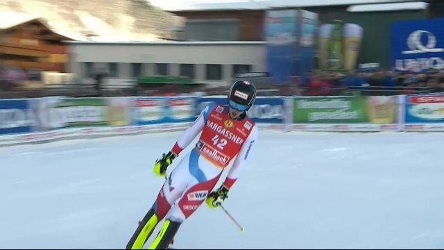 Saalbach (AUT), Slalom Messieurs, 2ème manche : Sandro SImonet (SUI) [RTS]