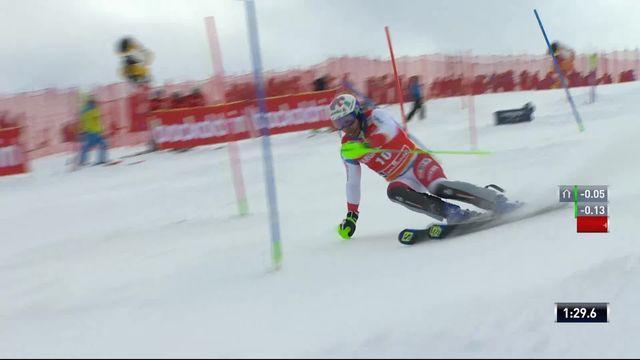 Saalbach (AUT), Slalom Messieurs, 2ème manche : Luca Aerni (SUI) [RTS]