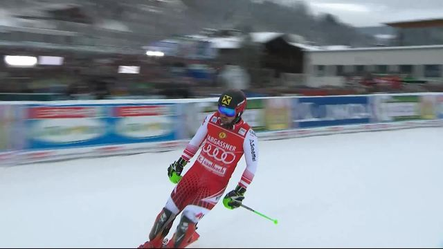 Saalbach (AUT), Slalom Messieurs, 1ère manche : Marcel Hirscher (AUT) [RTS]