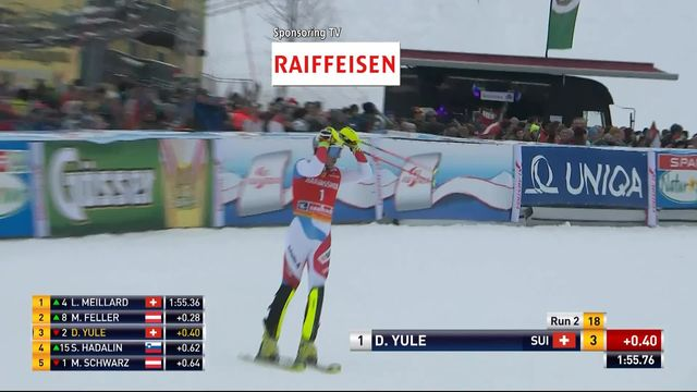 Saalbach (AUT), Slalom Messieurs, 2ème manche : Daniel Yule (SUI) [RTS]