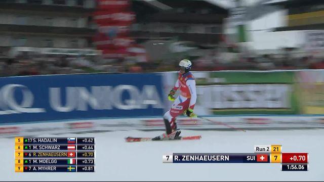 Saalbach (AUT), Slalom Messieurs, 2ème manche : Ramon Zenhaeusern (SUI) [RTS]