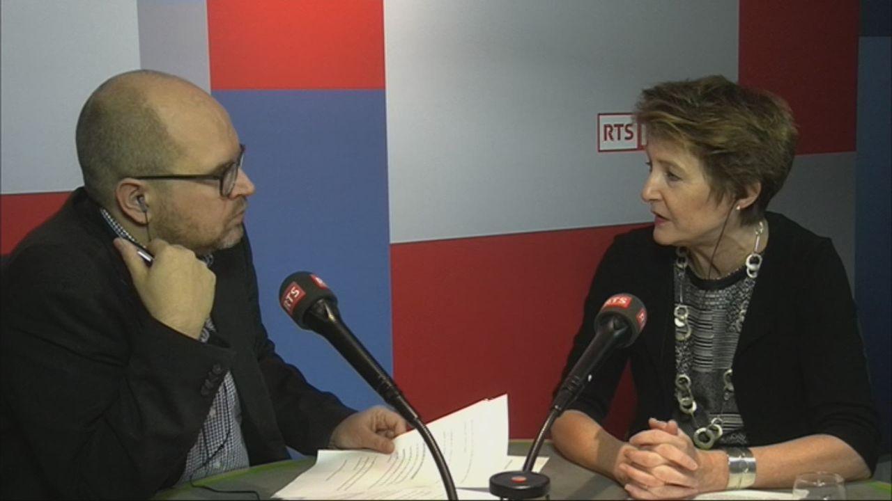 L'invité-e de Romain Clivaz (vidéo) - Simonetta Sommaruga, conseillère fédérale [RTS]
