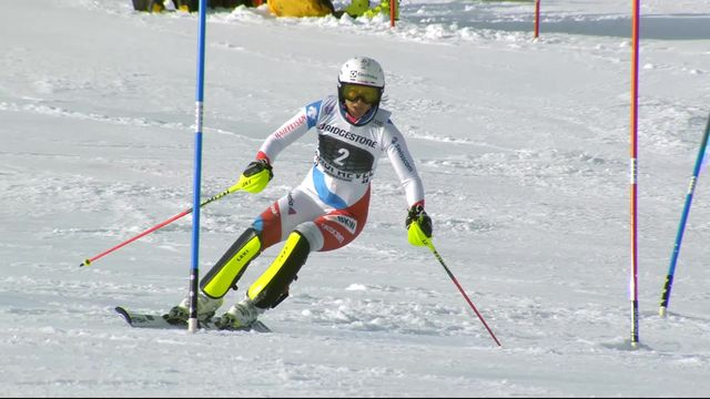 Courchevel (FRA), slalom dames, 1re manche: Wendy Holdener (SUI) [RTS]