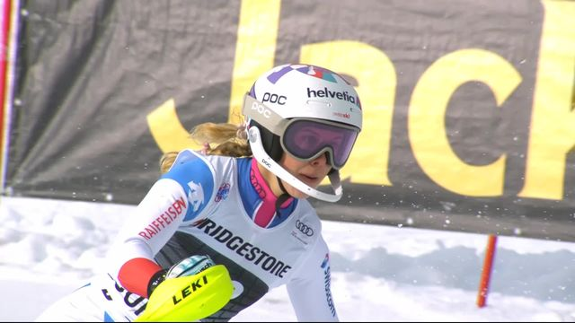 Courchevel (FRA), slalom dames, 1re manche: Aline Danioth (SUI) [RTS]