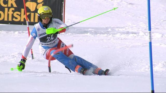 Courchevel (FRA), slalom dames, 1re manche: Carole Bissig (SUI) [RTS]