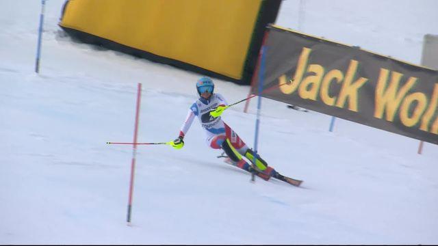 Courchevel (FRA), slalom dames, 1re manche: Elena Stoffel (SUI) [RTS]