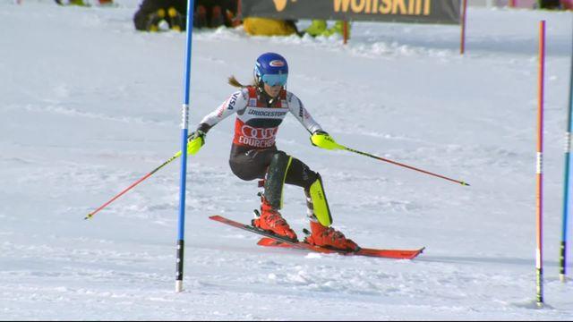 Courchevel (FRA), slalom dames, 1re manche: Mikaela Shiffrin (USA) en tête après la première manche [RTS]