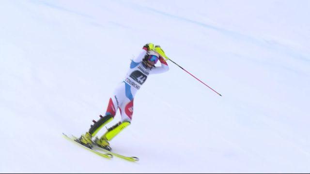 Courchevel (FRA), slalom dames, 1re manche: Charlotte Chable (SUI) éliminée [RTS]