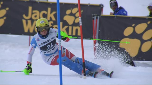Courchevel (FRA), slalom dames, 2e manche: Carole Bissig (SUI) [RTS]