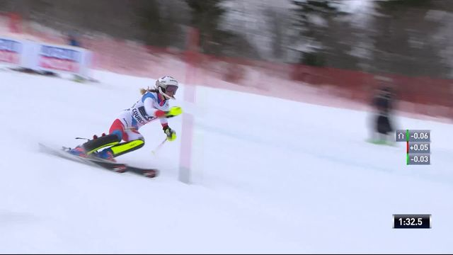 Courchevel (FRA), slalom dames, 2e manche: Aline Danioth (SUI) [RTS]