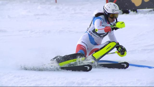 Courchevel (FRA), slalom dames, 2e manche: Wendy Holdener (SUI) [RTS]