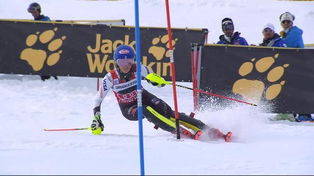 Courchevel (FRA), slalom dames, 2e manche: Mikaela Shiffrin (USA) remporte sa 7ème victoire de la saison et sa 50ème en carrière [RTS]