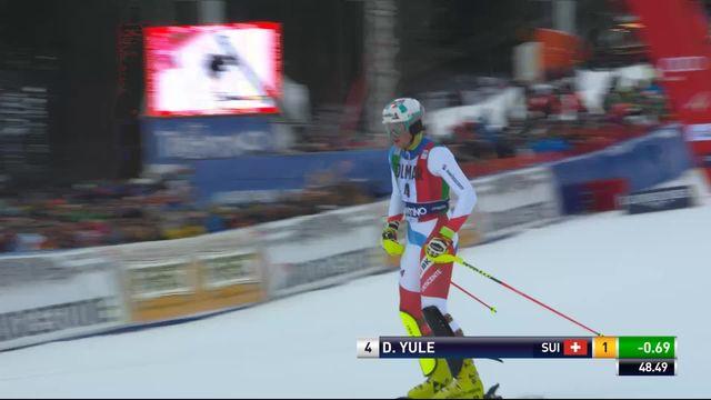 Madonna di Campiglio (ITA), slalom messieurs, 1re manche: Daniel Yule (SUI) [RTS]