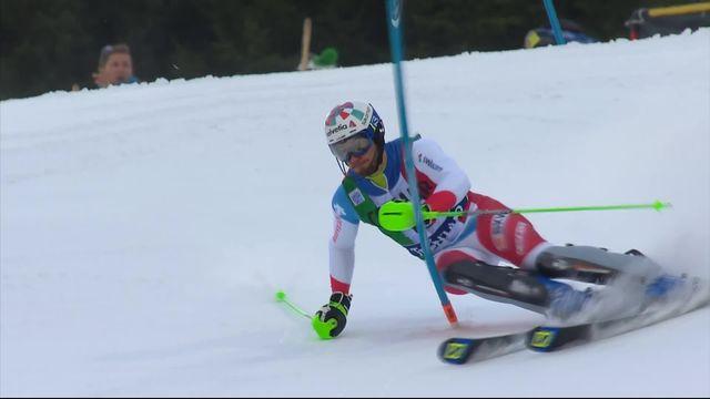 Madonna di Campiglio (ITA), slalom messieurs, 1re manche: Luca Aerni (SUI) [RTS]
