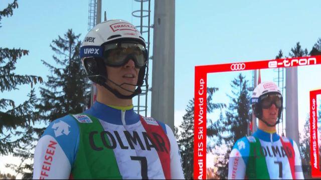 Madonna di Campiglio (ITA), slalom messieurs, 1re manche: Ramon Zenhäusern (SUI) [RTS]