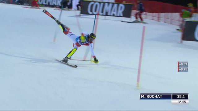 Madonna di Campiglio (ITA), slalom messieurs, 1re manche: Marc Rochat (SUI) éliminé [RTS]